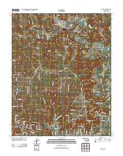 Avant Oklahoma Historical topographic map, 1:24000 scale, 7.5 X 7.5 Minute, Year 2012