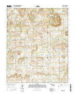 Beland Oklahoma Current topographic map, 1:24000 scale, 7.5 X 7.5 Minute, Year 2016 from Oklahoma Map Store