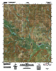 Bentley Oklahoma Historical topographic map, 1:24000 scale, 7.5 X 7.5 Minute, Year 2009