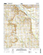 Bixby Oklahoma Current topographic map, 1:24000 scale, 7.5 X 7.5 Minute, Year 2016 from Oklahoma Map Store