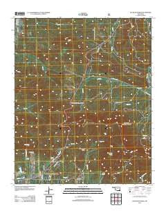 Blackjack Ridge Oklahoma Historical topographic map, 1:24000 scale, 7.5 X 7.5 Minute, Year 2012