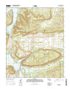 Blocker Oklahoma Current topographic map, 1:24000 scale, 7.5 X 7.5 Minute, Year 2016