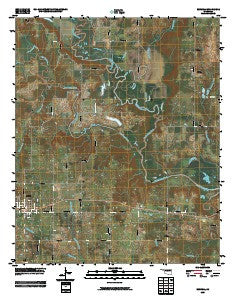 Boswell Oklahoma Historical topographic map, 1:24000 scale, 7.5 X 7.5 Minute, Year 2009