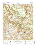 Boswell Oklahoma Current topographic map, 1:24000 scale, 7.5 X 7.5 Minute, Year 2016 from Oklahoma Map Store