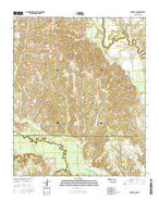 Boswell NW Oklahoma Current topographic map, 1:24000 scale, 7.5 X 7.5 Minute, Year 2016 from Oklahoma Map Store