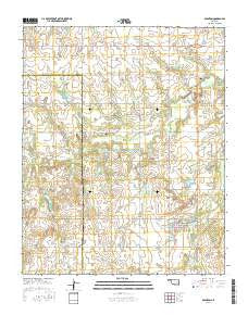 Boynton Oklahoma Current topographic map, 1:24000 scale, 7.5 X 7.5 Minute, Year 2016