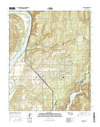 Braggs Oklahoma Current topographic map, 1:24000 scale, 7.5 X 7.5 Minute, Year 2016