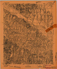 Buggy Creek Oklahoma Historical topographic map, 1:62500 scale, 15 X 15 Minute, Year 1893