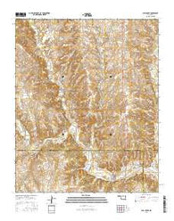 Bull Creek Oklahoma Current topographic map, 1:24000 scale, 7.5 X 7.5 Minute, Year 2016