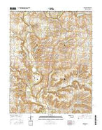 Burbank Oklahoma Current topographic map, 1:24000 scale, 7.5 X 7.5 Minute, Year 2016 from Oklahoma Map Store