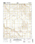 Burlington Oklahoma Current topographic map, 1:24000 scale, 7.5 X 7.5 Minute, Year 2016 from Oklahoma Map Store