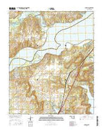 Canadian Oklahoma Current topographic map, 1:24000 scale, 7.5 X 7.5 Minute, Year 2016 from Oklahoma Map Store