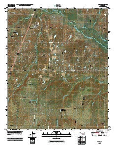 Caney Oklahoma Historical topographic map, 1:24000 scale, 7.5 X 7.5 Minute, Year 2009