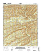 Caney Mountain Oklahoma Current topographic map, 1:24000 scale, 7.5 X 7.5 Minute, Year 2016 from Oklahoma Map Store