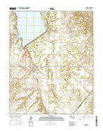 Canton Oklahoma Current topographic map, 1:24000 scale, 7.5 X 7.5 Minute, Year 2016 from Oklahoma Map Store