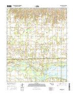 Canton NW Oklahoma Current topographic map, 1:24000 scale, 7.5 X 7.5 Minute, Year 2016 from Oklahoma Map Store