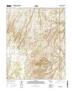 Canton SW Oklahoma Current topographic map, 1:24000 scale, 7.5 X 7.5 Minute, Year 2016 from Oklahoma Map Store