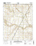 Capron Oklahoma Current topographic map, 1:24000 scale, 7.5 X 7.5 Minute, Year 2016 from Oklahoma Map Store