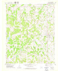 Carney Oklahoma Historical topographic map, 1:24000 scale, 7.5 X 7.5 Minute, Year 1978
