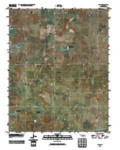 Casey Oklahoma Historical topographic map, 1:24000 scale, 7.5 X 7.5 Minute, Year 2009