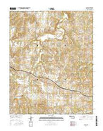Casey Oklahoma Current topographic map, 1:24000 scale, 7.5 X 7.5 Minute, Year 2016 from Oklahoma Map Store
