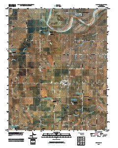 Cashion Oklahoma Historical topographic map, 1:24000 scale, 7.5 X 7.5 Minute, Year 2009
