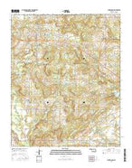 Centrahoma Oklahoma Current topographic map, 1:24000 scale, 7.5 X 7.5 Minute, Year 2016 from Oklahoma Map Store