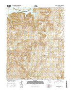 Charley Creek East Oklahoma Current topographic map, 1:24000 scale, 7.5 X 7.5 Minute, Year 2016 from Oklahoma Map Store