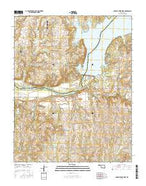Charley Creek West Oklahoma Current topographic map, 1:24000 scale, 7.5 X 7.5 Minute, Year 2016 from Oklahoma Map Store
