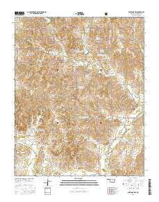 Cheyenne NW Oklahoma Current topographic map, 1:24000 scale, 7.5 X 7.5 Minute, Year 2016