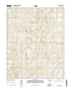 Clear Lake Oklahoma Current topographic map, 1:24000 scale, 7.5 X 7.5 Minute, Year 2016 from Oklahoma Map Store