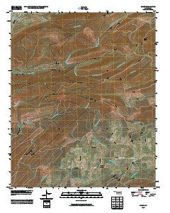Clebit Oklahoma Historical topographic map, 1:24000 scale, 7.5 X 7.5 Minute, Year 2009