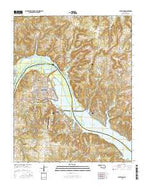 Cleveland Oklahoma Current topographic map, 1:24000 scale, 7.5 X 7.5 Minute, Year 2016 from Oklahoma Map Store