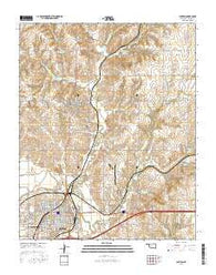 Clinton Oklahoma Current topographic map, 1:24000 scale, 7.5 X 7.5 Minute, Year 2016