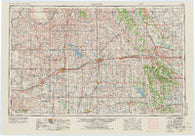 Clinton Oklahoma Historical topographic map, 1:250000 scale, 1 X 2 Degree, Year 1955