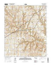 Clinton NE Oklahoma Current topographic map, 1:24000 scale, 7.5 X 7.5 Minute, Year 2016