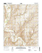 Cloud Chief Oklahoma Current topographic map, 1:24000 scale, 7.5 X 7.5 Minute, Year 2016 from Oklahoma Map Store