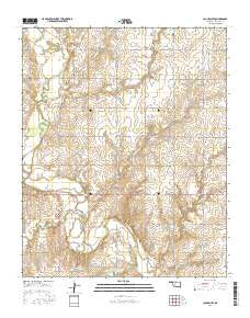 Cloud Chief Oklahoma Current topographic map, 1:24000 scale, 7.5 X 7.5 Minute, Year 2016