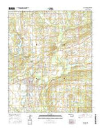 Coalgate Oklahoma Current topographic map, 1:24000 scale, 7.5 X 7.5 Minute, Year 2016 from Oklahoma Map Store