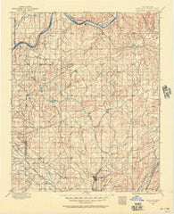 Coalgate Oklahoma Historical topographic map, 1:125000 scale, 30 X 30 Minute, Year 1896