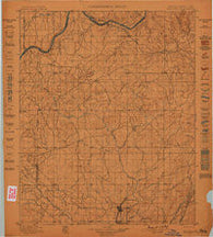 Coalgate Oklahoma Historical topographic map, 1:125000 scale, 30 X 30 Minute, Year 1899