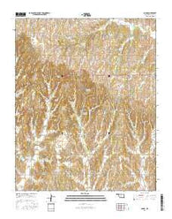 Cogar Oklahoma Current topographic map, 1:24000 scale, 7.5 X 7.5 Minute, Year 2016
