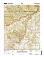 Concharty Mountain Oklahoma Current topographic map, 1:24000 scale, 7.5 X 7.5 Minute, Year 2016 from Oklahoma Map Store