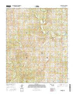 Connerville Oklahoma Current topographic map, 1:24000 scale, 7.5 X 7.5 Minute, Year 2016 from Oklahoma Map Store
