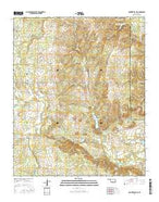 Connerville NE Oklahoma Current topographic map, 1:24000 scale, 7.5 X 7.5 Minute, Year 2016 from Oklahoma Map Store