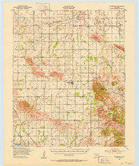 Cooperton Oklahoma Historical topographic map, 1:62500 scale, 15 X 15 Minute, Year 1949