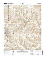 Cordell Oklahoma Current topographic map, 1:24000 scale, 7.5 X 7.5 Minute, Year 2016 from Oklahoma Map Store