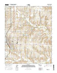 Cordell Oklahoma Current topographic map, 1:24000 scale, 7.5 X 7.5 Minute, Year 2016