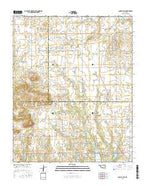Council Hill Oklahoma Current topographic map, 1:24000 scale, 7.5 X 7.5 Minute, Year 2016 from Oklahoma Map Store