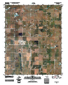 Covington Oklahoma Historical topographic map, 1:24000 scale, 7.5 X 7.5 Minute, Year 2009